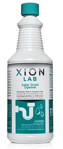 Safer Drain Opener from Xion Lab