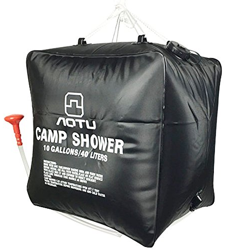 10 Gallon Solar Heated Camp Shower Bag from Zoeson