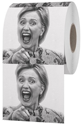 toilet paper with Hilary Clinton