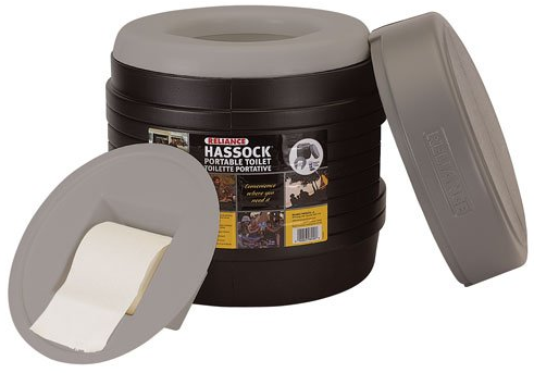Hassock Portable Lightweight Self-Contained Toilet from Reliance Products