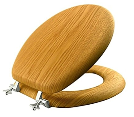 Natural Reflections Oak Toilet Seat from Mayfair