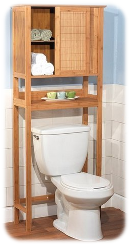Natural Bamboo Bathroom Storage Over Toilet from Bathroom Space Saver