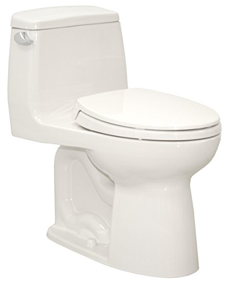 Eco Ultramax Elongated One Piece Toilet with Sanagloss from Toto