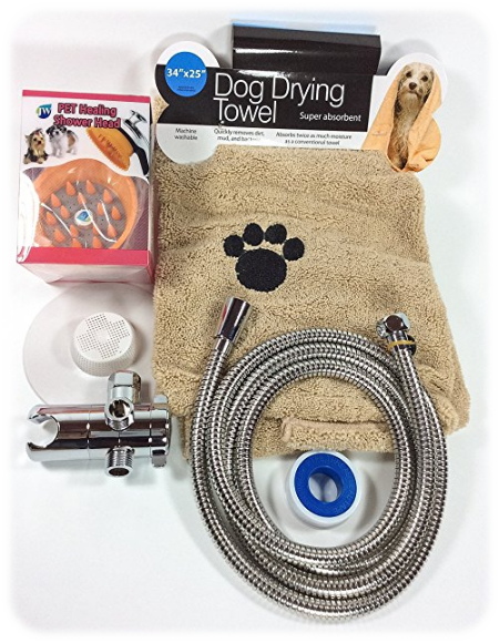 Professional Grade Pet Grooming Shower Head from Homescape World