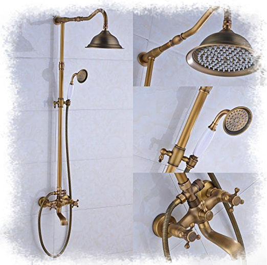 Bathroom Shower Faucet Set Shower Head + Hand Spray from Rozin