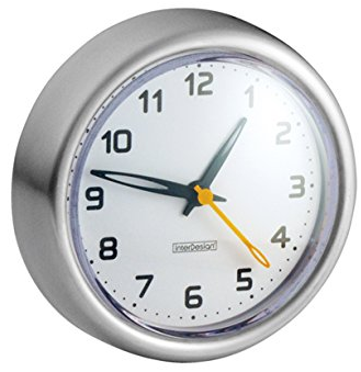 Forma Suction Clock for Bathroom from InterDesign