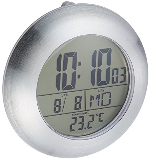 LCD Bathroom Shower Clock from HITO