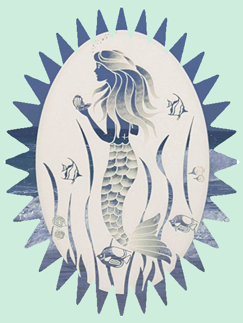 Oval Mermaid Decal from WindowFilmAndDecals